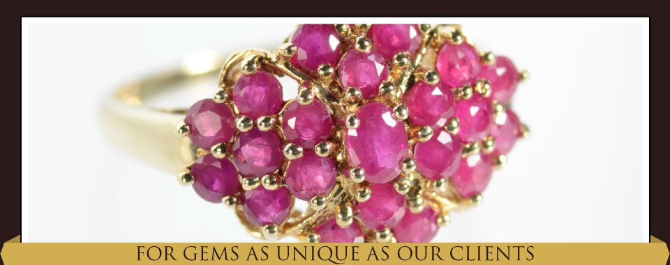 For Gems as Unique as Our Clients - ruby ring