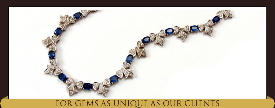 For Gems as Unique as Our Clients - sapphire bow necklace